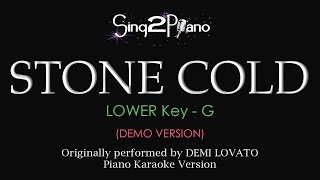 Stone Cold (Lower Key - Piano karaoke demo) Demi Lovato