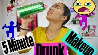 5 Minute Drunk Makeup Challenge (LMAO I CRIED!)   KissedByKen