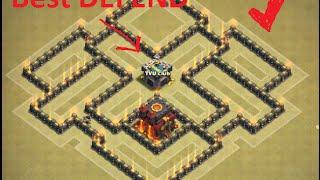 Hướng dẫn xếp nhà Hall 7 war chống rồng #2 | Best Town Hall 7 base | Clash of clans | Việt Nam base