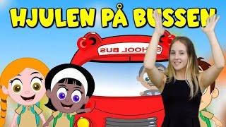 Barnsånger med handrörelser | Hjulen på bussen | Barnsånger  på svenska