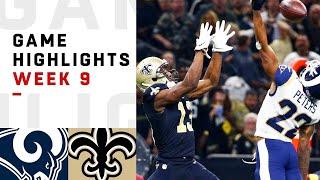 Rams vs. Saints Week 9 Highlights | NFL 2018