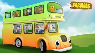 Wheels On The Bus | Kindergarten Videos For Tobblers