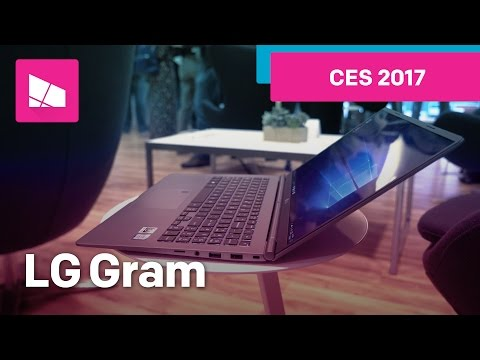 LG Gram Hands on from CES 2017. Only 980 grams