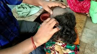 paati  bald head shave at Temple || head shave in temple|| Indian Women Head Shave Video ||
