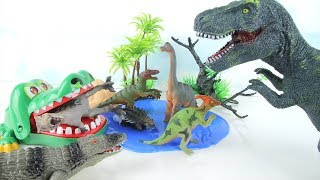 Crocodiles Vs. Dinosaurs - GiantCrocodilesFinallyRevengeonDinosaurs! Fun Dinosaurs Toys 공룡 악어
