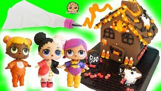 Halloween Cookie Candy House with LOL Surprise Baby Dolls + Surprise Blind Bags