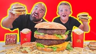 Most Expensive Giant McDonalds Big Mac vs Real Food Hamburger DIY