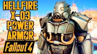Fallout 4 - HELLFIRE X-03 POWER ARMOR! - Enclave Armor Showcase & Location - Mod
