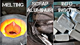 Melting scrap aluminum into ingots 2.0