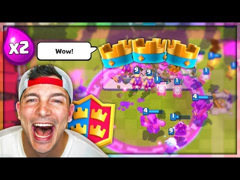 2X ELIXIR 2v2 = CRAZY! Clash Royale New Legendary Challenge!