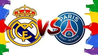 How to Draw and Color - Real Madrid Vs PSG Champions League Logos Coloring Pages