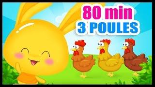 Quand trois poules vont aux champs - 80 min de comptines pour les petits