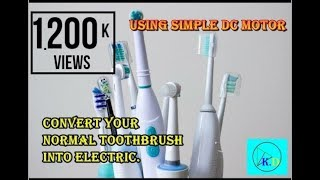 How To Make Electric Tooth Brush || Homemade Electric Toothbrush||