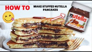 How To Make Stuffed Nutella Pancakes! - IN ACTION