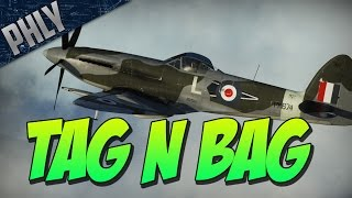War Thunder - Spitfire MK 22 - TAG N BAG -  War Thunder Gameplay