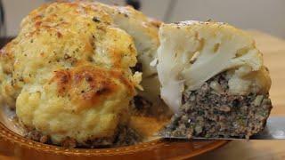 كفته كباب القرنبيط ( كيتو دايت )   Keto Low Carb, Cauliflower Stuffed Kofta