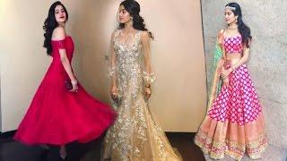 Sridevi Daughter Jhanvi Kapoor Hot Dresses At GVK Keshav Reddy's Wedding !!