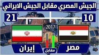 مقارنة الجيش المصري مقابل الجيش الايراني 2017- ثاني وثالث جيوش الشرق الاوسط - مصر مقابل إيران