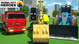 Spec Trucks Excavator Building Airport - Wheel City Heroes (WCH)   New Street Vehicles Cartoon