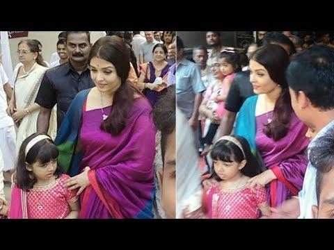 Xxx Mp4 Aishwarya Rai With Daughter Aaradhya At Durga Puja 2017 3gp Sex
