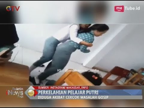 Saling Menggosip, Dua Siswi SMA Terlibat Cekcok Hingga Berantem di Kelas - BIP 15/03