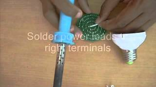 How to make LED light bulbs by yourself using supperhat LEDs.