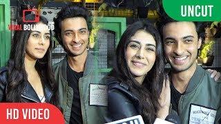 UNCUT+-+Aayush+Sharma+And+Warina+Hussain+Promote+Their+Film+Loveratri+With+DJ+Chetas+at+Bombay+Adda
