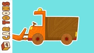 Car Toons snowplow. Car cartoons for kids.