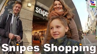 Snipes Shopping mit Ash und Max VLOG TipTapTube