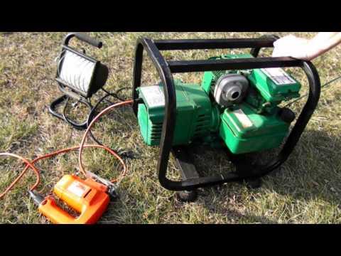 Coleman Powermate Generator Demo Coleman Generator Test Run