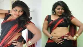 Black Saree Aunty Hot Navel Show
