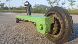 How to make a Electric LONGBOARD using Piece of wood at home