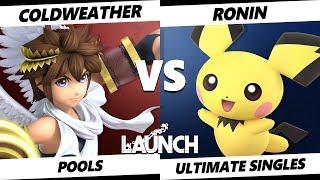 Launch Smash Ultimate - SL | Coldweather (Pit) VS Ronin (Pichu) SSBU Pools