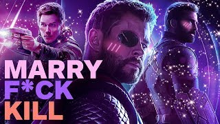 Avengers: Infinity War Cast Plays F**k, Marry, Kill with Pratt, Hemsworth and Evans