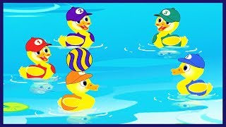Five Little Ducks Went Out One Day | Nursery rhyme for children with lyrics