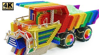 DIY - How To Make Haul Truck BelAZ 75710 From Magnetic Balls (Satisfying) | Magnet World Series