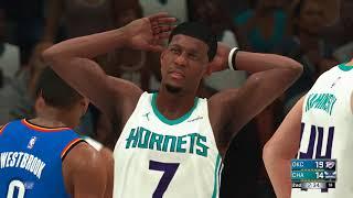 NBA 1/13 Oklahoma City Thunder vs Charlotte Hornets NBA JAN 13 Full Game Thunder vs Hornets NBA 2K18