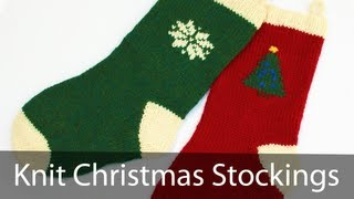 Learn to Knit a Christmas Stocking - Part 1