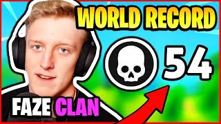 TFUE BREAKS KILL *WORLD RECORD* - 54 KILLS FAZE CLAN HIGHLIGHTS   Fortnite Battle Royale