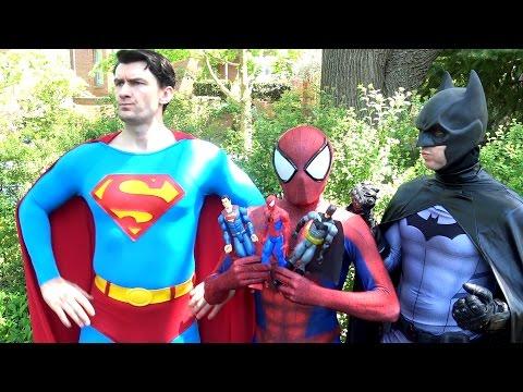 Xxx Mp4 SPIDER MAN Vs SUPERMAN BATMAN WONDER WOMAN Toy Battle Real Life Superhero Movie TheSeanWardShow 3gp Sex