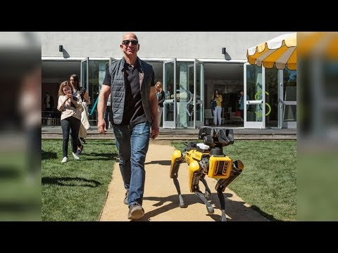 Xxx Mp4 Jeff Bezos With Dog Robot Beer Pong And Vest For Deaf People MARS 2018 3gp Sex