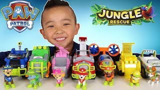 Paw Patrol Jungle Rescue Vehicles And Characters Set Ckn Toys