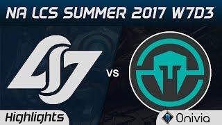 CLG vs IMT Highlights Game 3 NA LCS Summer 2017 Counter Logic Gaming vs Immortals by Onivia