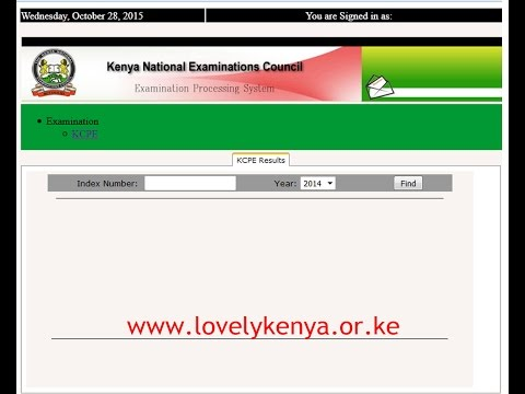 How to check KCPE / KCSE results online - KNEC KCPE/KCSE Results Portal Login