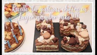 Recette du layer number cake ou le gâteaux chiffres 2 chocolats et carambars