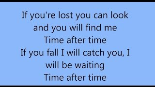 Cindy Lauper - Time After Time - Lyrics