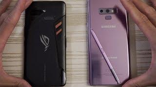 Asus ROG Phone vs Samsung Note 9 - Speed Test!