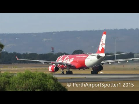 AirAsia X Airbus A330-300 - Taking Off at Perth Airport Rwy 03 YPPH