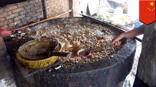 Minyak goreng di Cina yang di daur ulang dari selokan - TomoNews
