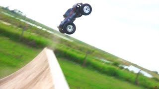RC ADVENTURES - COMPETiTiON - 3 HPi Savage Flux HP Monster Trucks on 6s Lipo